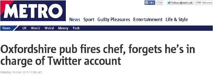 Chef despedido en Navidad