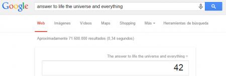 Easter Eggs de Google: Respuesta del universo Google