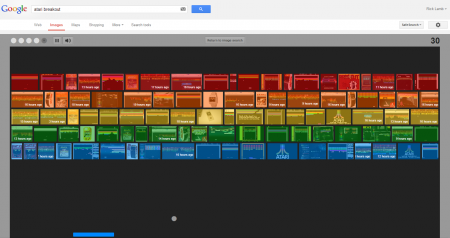 Easter Eggs de Google: Atari Breakout