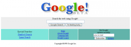 Easter Eggs de Google: Google 1998