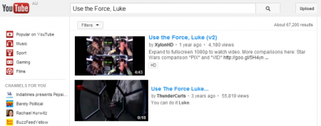 Easter Eggs de Google: Use Force Luke