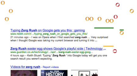 Easter Eggs de Google: zerg rush