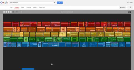 Easter Eggs de Google: Atari Breakout
