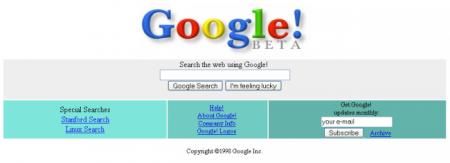 Easter Eggs de Google: Google 1998