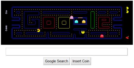 Easter Eggs de Google: Google Pacman