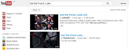 Easter Eggs de Google: Use Force Luke
