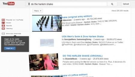 Easter Eggs de Google: Harlem Shake YouTube