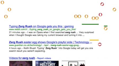 Easter Eggs de Google: zerg rush